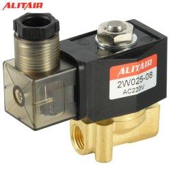 220VAC 1/4 インチ電気ソレノイドバルブディーゼルガス水分エア 2W-025-08 NC 空圧バルブ