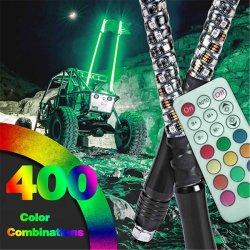 ATV UTV Rzr를 위한 나선형 안테나 LED 채찍 빛을 쫓기 360 도