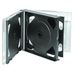 4-6ディスクのための多CD宝石箱(4PK CD箱)