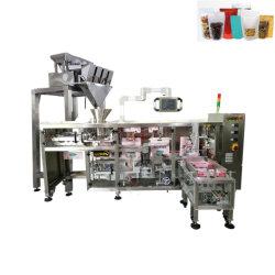 Qualitäts-und Geschwindigkeits-automatische 500g Nahrung für Haustiere lineare Doypack Paket-Plombe und Dichtungs-Verpackungsmaschine mit Fastfood- Beutel