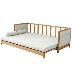 Sofá cama de madeira maciça multifuncional Sala Sofá sólidos de madeira simples moderno estilo nórdico Sofá-Cama feita de carvalho branco