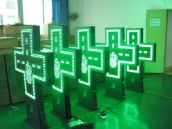 P16 شاشة عرض صليب مزودة بمصباح صيدلية LED خارجية ملونة باللون الأخضر