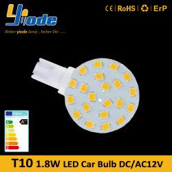 2W Round LED T10 Bulb Medium Base Car Lights