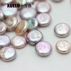 perle allentate barrocco coltivate naturali multicolori della moneta d'acqua dolce di qualità di 13-14mm AAA (XL110047)