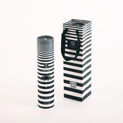 Kundenspezifische zylinderförmige und rechteckige gestreifte Regenschirm-Verpackungs-Kartone
