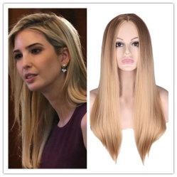 100 % de cheveux synthétiques Machine faite aux femmes et de miel naturel de Bob Black blonde droites de la soie résistant à la chaleur perruque synthétique souple