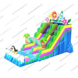 거대한 커머셜 아열대 해안 팽창식 워터 슬라이드, 키즈 그리고 성인 Chsl932