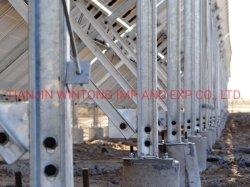 La estructura de acero galvanizado de tierra Solar Los soportes de montaje
