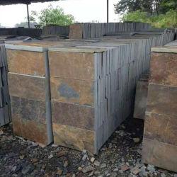 La toiture en ardoise naturelle mosaïque Rusty pour mur et sol en ardoise