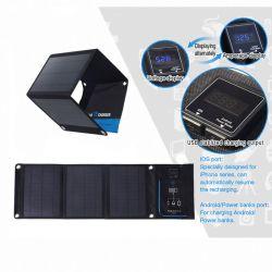 18w panneau solaire pliable portable USB Batterie de voiture de téléphonie mobile Chargeur solaire de meilleure qualité de pliage