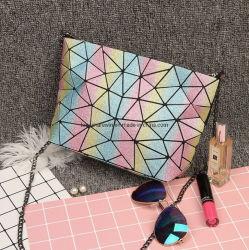 Bolsa de Diamantes láser Dama pequeña bolsa de incienso oblicuo de la cadena de la bolsa de arco iris
