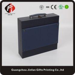 Portale Briefcase-Like vin Boîte d'emballage du papier