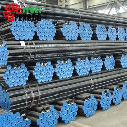 5L de la API de la norma ASTM A53 A106 Grb Sch40 de acero sin costura del tubo de Carbono negro