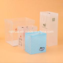 Мешок PVC ясности покупкы пластичный с коробкой PVC ручки