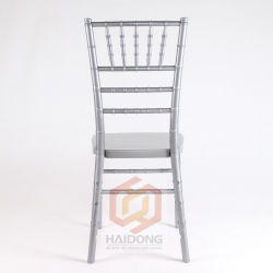 PC 수지 유럽 Chiavari 의자를 겹쳐 쌓이는 은 완료하십시오