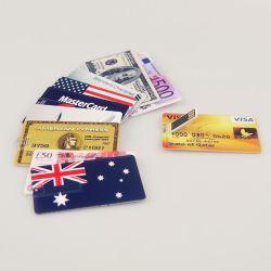 Водонепроницаемый U Flash Card класса10 32 Гб/16 ГБ/8ГБ Банком форме кредитной карты флэш-накопитель USB флэш-памяти банкнот привода пера Memory Stick™