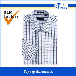 L'économie OEM personnalisés le polyester/coton à manches courtes Homme chemises à carreaux