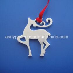 Conception d'animaux de noël ornement personnalisé découper Silver Elk décoration design à l'ornement