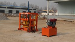 محرك الديزل Shengya Qt4-30 كتلة خرسانية صلبة من الضغط الهيدروليكي تعمل بالديزل آلة الطوب من الطوب