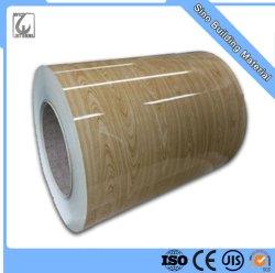 Dx51d 木材グレイン塗装済みカラーコーティングコイル PPGI RAL 9012 大理石セカンダリ