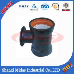 ISO2531 Pn10 Pn16 Pn25 duktiles Eisen-Doppelt-Kontaktbuchse-Stück-Rohrfitting mit Flansch-Zweig