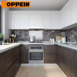 Oppein laca em forma de U e armários de cozinha equipada narrados HPL fabricados na China
