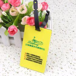 Personalizar a viagem mais barata a bagagem de avião de borracha macia PVC Etiqueta de Viagem