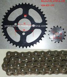 Motorrad-Kettenkettenrad-gesetzter Übertragungs-Installationssatz für Bajaj Plantina125