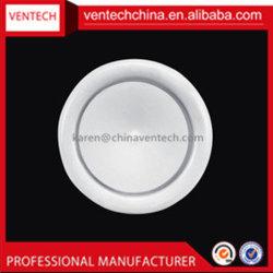 Sistema de válvula de disco de HAVC de aluminio de plástico de cubierta de ventilación de la válvula de disco