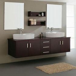 Роскошь деревянных дерева зеркально лака в ванной комнате туалетный столик шкаф мебель