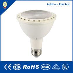 GS Saso CE UL E26 blanco cálido regulable 11W 16W LED Lámpara PAR Fabricado en China para el hogar y de negocios de la iluminación interior de la mejor fábrica de distribuidor
