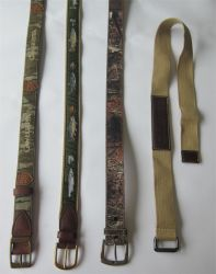 Toile d'impression /en cuir/PU/nylon camouflage militaire de la courroie de la courroie de la mode HOMME avec boucle en métal fh-B-6423