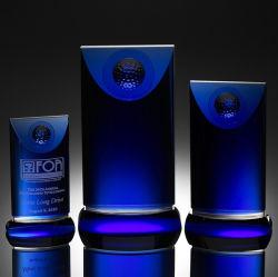 Синий солнцестояния поле для гольфа Crystal Award (#4007, № 4008, № 4009)