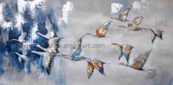 ホーム装飾のためのハンドメイドの飛ぶ鳥のキャンバスの壁の芸術
