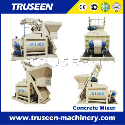 500L-1000L veio Twin máquina de mistura de argila Misturador de cimento de betão