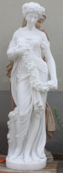 A la venta mujer Dama escultura en piedra de mármol estatua decoración Jardín