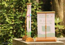 A3/A4 미니 데스크/테이블 상단 대나무 롤업 배너 디스플레이 스탠드