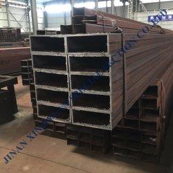 熱い浸された構築の管の建築材料DIN2440/2444 ERW黒い低炭素の正方形鋼管