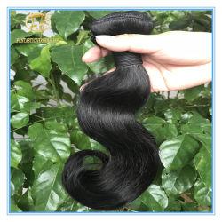 Meilleures ventes ondulée noir naturel brut 8un grade dans le plein de cheveux humains péruvien cuticule coupés d'un donneur avec prix d'usine PAM-031