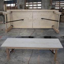 Fattoria piegante del paese rustico di legno di pino che pranza le Tabelle del giardino