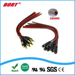 UL20276 10 paires de câble en queue de cochon d'alimentation CC, 12V 5A connecteurs mâle et femelle