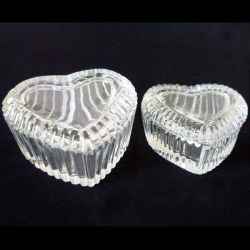 Coração Crystal Jewel Box Caixa de vidro
