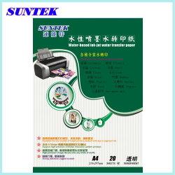 Suntekの高品質A4のインクジェット水スライドのステッカーの転写紙