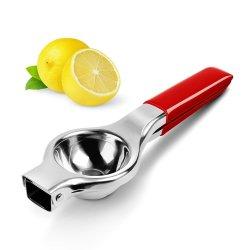 Manual de mão inoxidável espremedor de citrinos alças de silicone espremedor de limão
