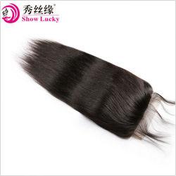100% необработанные 9A филиппинских Virgin волос человека прямо 5*5 кружевной Закрытие верхней части закрытия свободной части волос