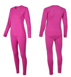 Popular hecho personalizado de algodón y spandex cálida señoras ropa interior térmica