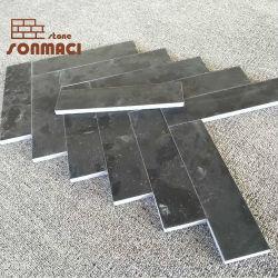 Schwarze Marmormosaik-Stein-Straßenbetoniermaschine-Fliese