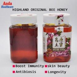 100% die organische Rose Farben-gibt der natürliche Bienen-Honig, produziert Highland Verunreinigungs-im vollen Nahrung-Bienen-Honig des Bereichs-null die fünf Stern-Gaststätte an