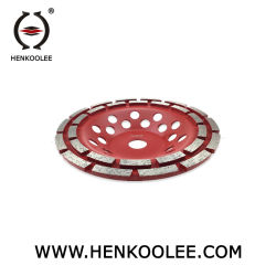 Doppeltes Reihen-Diamant-Cup-Schleifscheibe für Fußboden-Schleifer Metall-Verpfänden