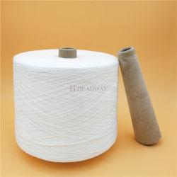 多多コアによって回されるポリエステル縫う糸AAの等級の縫う糸の未加工白